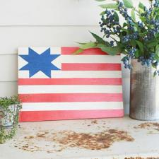 DIY Barn Quilt American Flag Art
