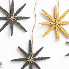 DIY Winter Crafts, Easy Clothespin Snowflakes