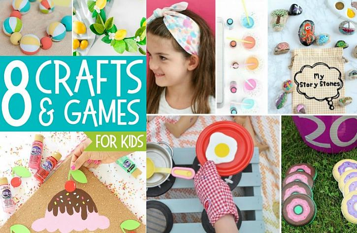 Kids Summer Crafts and Games