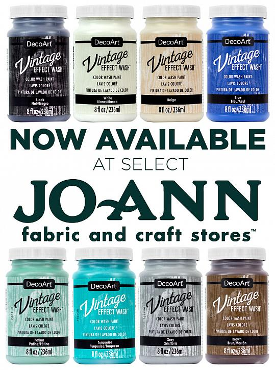 Vintage Effect Wash: Now Available at JoAnn