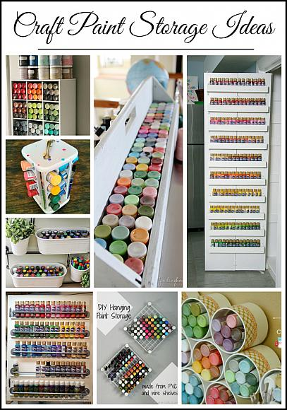 Decoart blog craft paint storage ideas Craft storage ideas