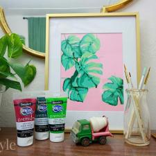 Monstera Plant Printable Paint By Number